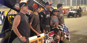 Blaney Bests Outlaws at Attica