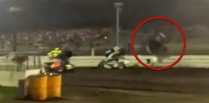 Kevin Swindell Injured at Knoxville (Video)