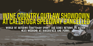 Wine Country Outlaw Showdown Swept by Mother Nature