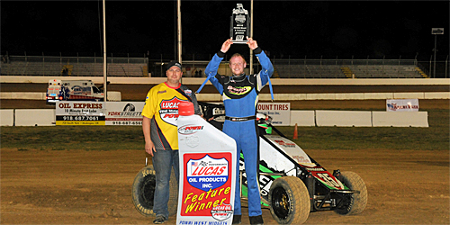 Sherrell Shines at Outlaw Motor Speedway