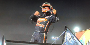 Sammy on the Last Lap at Knoxville