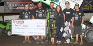 Clauson Cashes In at Badlands