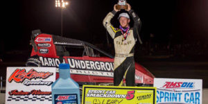 Leary Lands First USAC Win