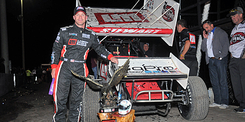Shane Stewart Chases Another One at Salina