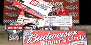Stewart Denies Larson at Lawrenceburg