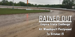 World of Outlaws Washed Out at Weedsport
