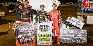 Larson Rallies for Ohio Sprintweek Win at Wayne County