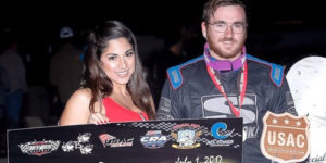 Adams Strikes Late for USAC/CRA Honors
