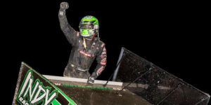 Saldana Back in Victory Lane