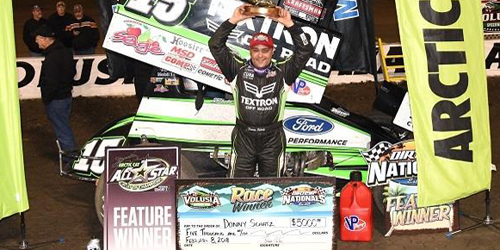 Schatz Doubles Up with All Stars at DIRTcar Nationals