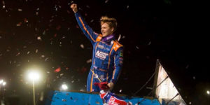 Sheldon Haudenschild Gets his First in WoO Season Opener