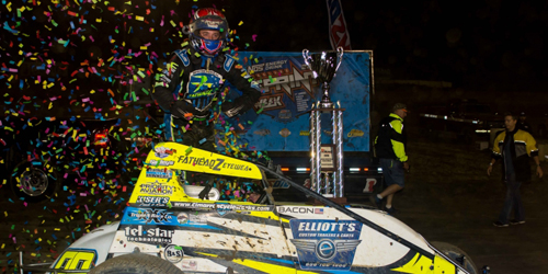 Bacon Wraps Up Indiana Sprintweek Opening Night Win