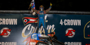 Courtney Doubles Up at Four Crown Nationals – Ready for Three-Race USAC Sprint Car Set this Weekend