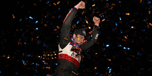 Reutzel Guns for Air Capital Shootout Loot after Dominant World of Outlaws Triumph at Perris