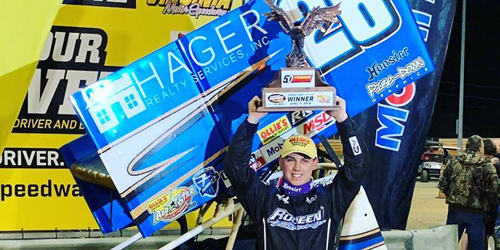 Eliason Opens All Star Campaign in Victory Lane