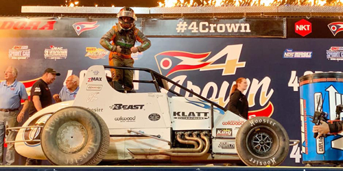 Bacon Takes on USAC Sprint Cars at Lawrenceburg after Last Week's Four Crown Triumph