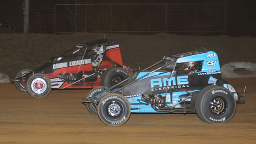 Thorson Strikes at Big Diamond for First USAC Sprint Win